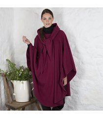 luxurious wool & cashmere irish cape wine