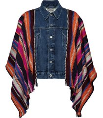 lmc trucker poncho lmc summer jeansjack denimjack multi/patroon levi's made & crafted