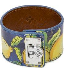patricia nash silver-tone leather wrap bracelet