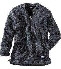melerad sweatshirt med baseballkrage