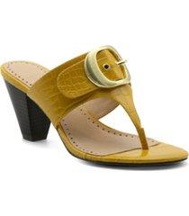 adrienne vittadini women's polka mid-heel thong sandals women's shoes