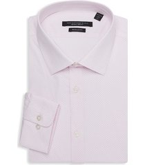 john varvatos star u.s.a. men's spencer regular-fit print dress shirt - misty rose - size 16 l