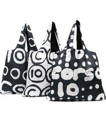 10 corso como reversible printed tote bag - black