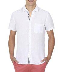 camisa lino blanco arrow
