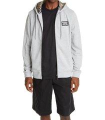 men's burberry hove logo applique cotton hoodie