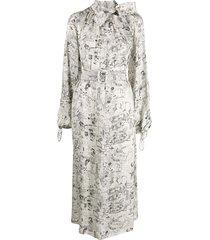 off-white graphite print dress