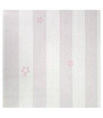 papel de parede para menina listras rosa com branco fwb
