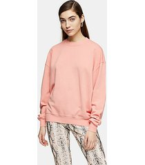 dusty pink stonewash sweatshirt - dusty pink