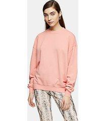 dusty pink stonewash sweatshirt - dusty pink