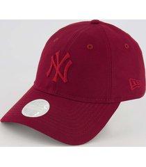boné new era mlb new york yankees vermelho escuro