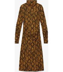 proenza schouler white label snake print turtleneck dress /yellow m