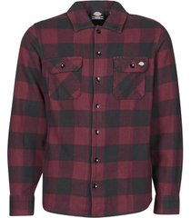 overhemd lange mouw dickies new sacramento shirt maroon