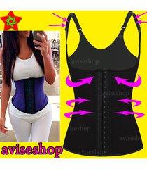 aviseshop underbust waist trainer cincher vest chaleco body shaper corset # 3