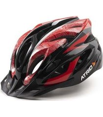 capacete atrio para ciclismo mtb inmold 2.0 viseira removível 19 entradas de ventilação