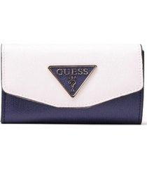 billetera maddy slg double date vl729139 para mujer guess - azul marino