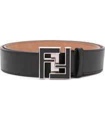 fendi ff buckle belt - black