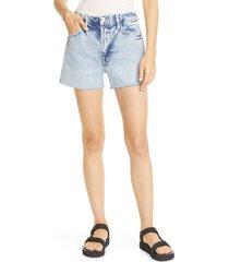 frame le simone fray hem denim cutoff shorts, size 33 in richlake at nordstrom