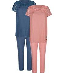 pyjama's per 2 stuks blue moon rozenhout::marine