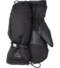 prada nylon gloves - black