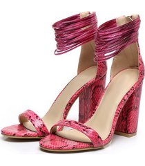 ps269 cutie serpentine ankle sandals, suede leather, size 35-40, red