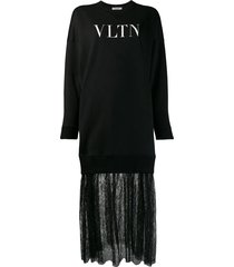 vltn print sweatshirt dress
