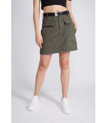 mini falda utility cinturon verde sioux