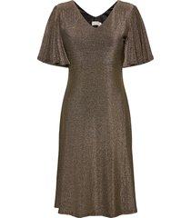 crminu short dress knälång klänning guld cream
