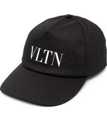 valentino vltn logo-print baseball cap