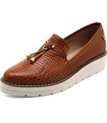 zapato casual croco miel lorena herrera