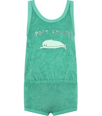 the animals observatory green bodysuit for girl