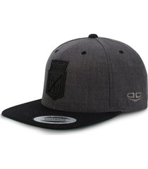gorra atlético nacional oficial edición limitada premium flexfit 6089 mt gris/negro