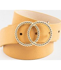 jazmine twisted double circle belt - cognac