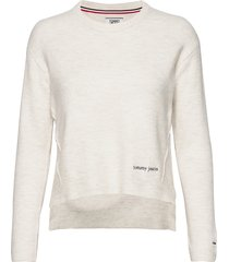 tjw side stitch detail sweater gebreide trui crème tommy jeans