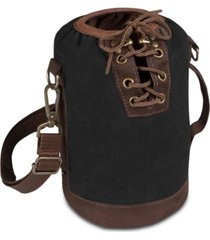 legacy by picnic time black & brown insulated growler tote