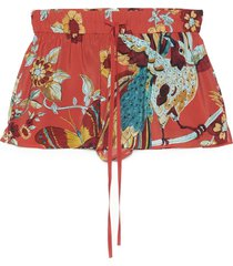 red valentino bird of parad forest shorts