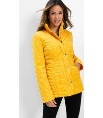 gewatteerde jas met fluwelen print