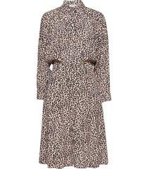 revo leo geo dress knälång klänning brun zadig & voltaire