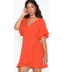 ax paris short sleeve frill dress loose fit dresses