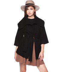 kurtka wiązana czarna