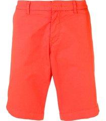 fay slim fit bermuda shorts - orange