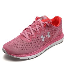 tenis running rosa-coral under armour charged impluse
