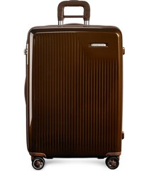 sympatico medium expandable spinner suitcase - bronze