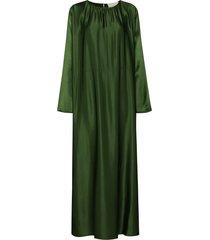 asceno rhodes kaftan maxi dress - green