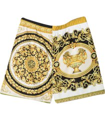 young versace shorts with baroque print