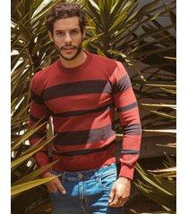 sweater pmp tejido vinotinto cuello redondo - acrilico 100%