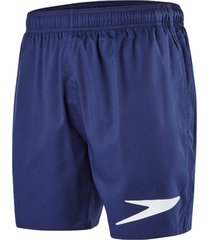 speedo sport solid watershort zwembroek blue white logo, small