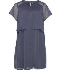 xverra, s/s, dress kort klänning blå zizzi