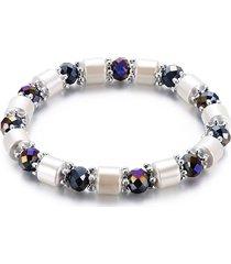 braccialetti con perline vintage braccialetti neri con pietre dure irregolari unisex per uomo donna