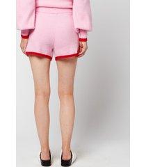 kitri women's harriet knitted shorts - pink - m