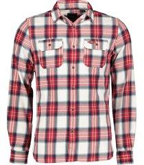 superdry overhemd - slim fit - rood